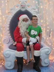 Our boy with Santa
